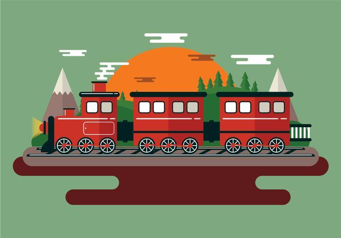 Illustration du train à vapeur vecteur