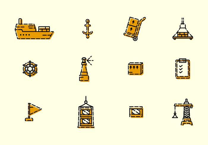 Iconos únicos del astillero