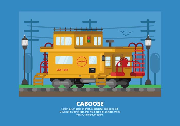 Caboose Illustratie
