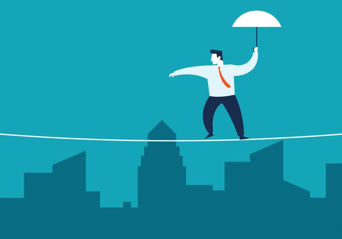 Tightrope Walker Business Concept