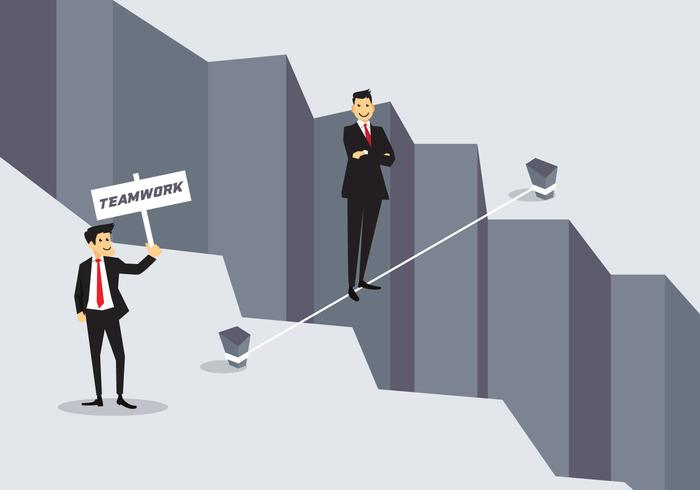 Business Concept Tightrope Vector