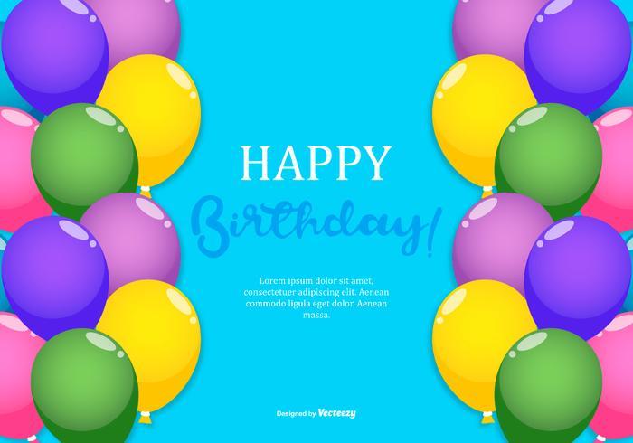 Colorido feliz cumpleaños ilustración