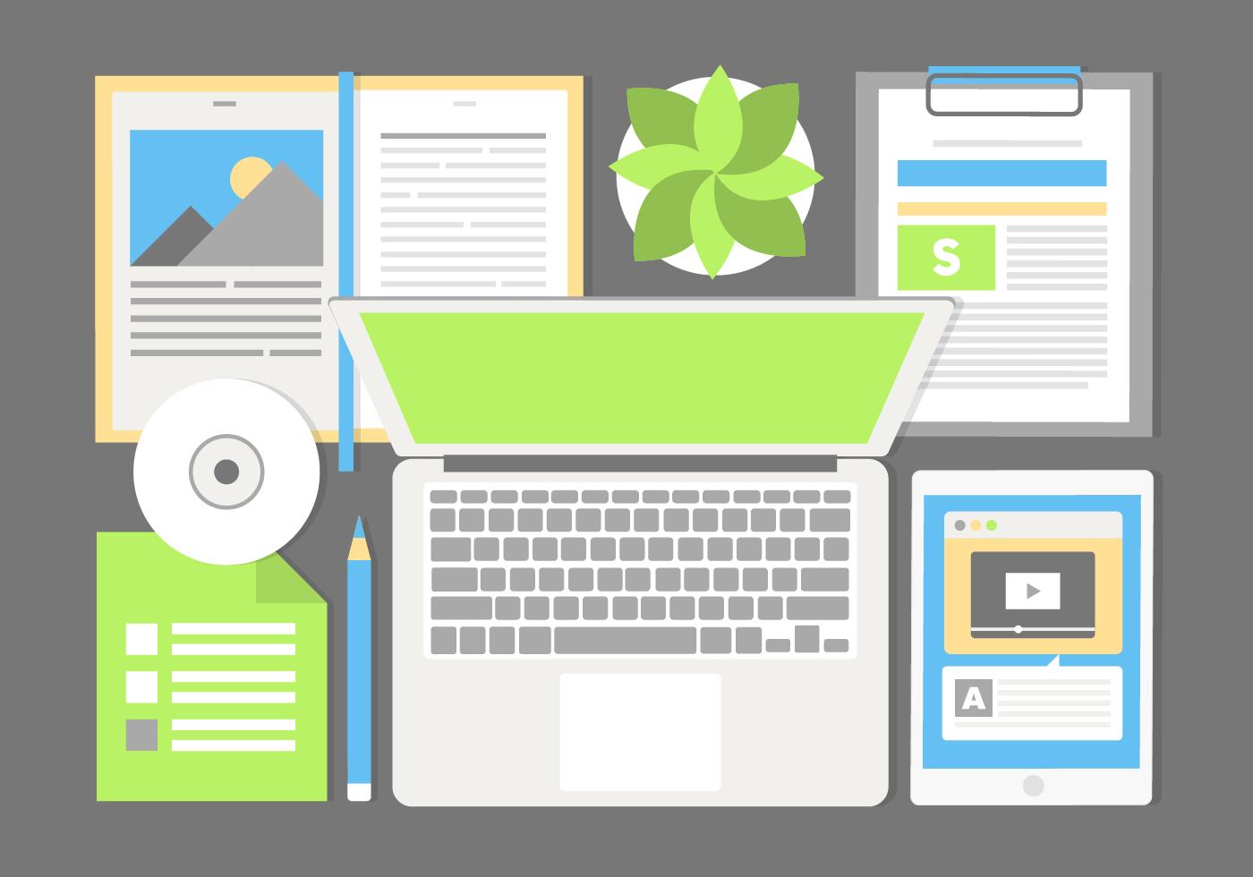 Libre de dise o vector elementos de la oficina descargue for Elementos para oficina
