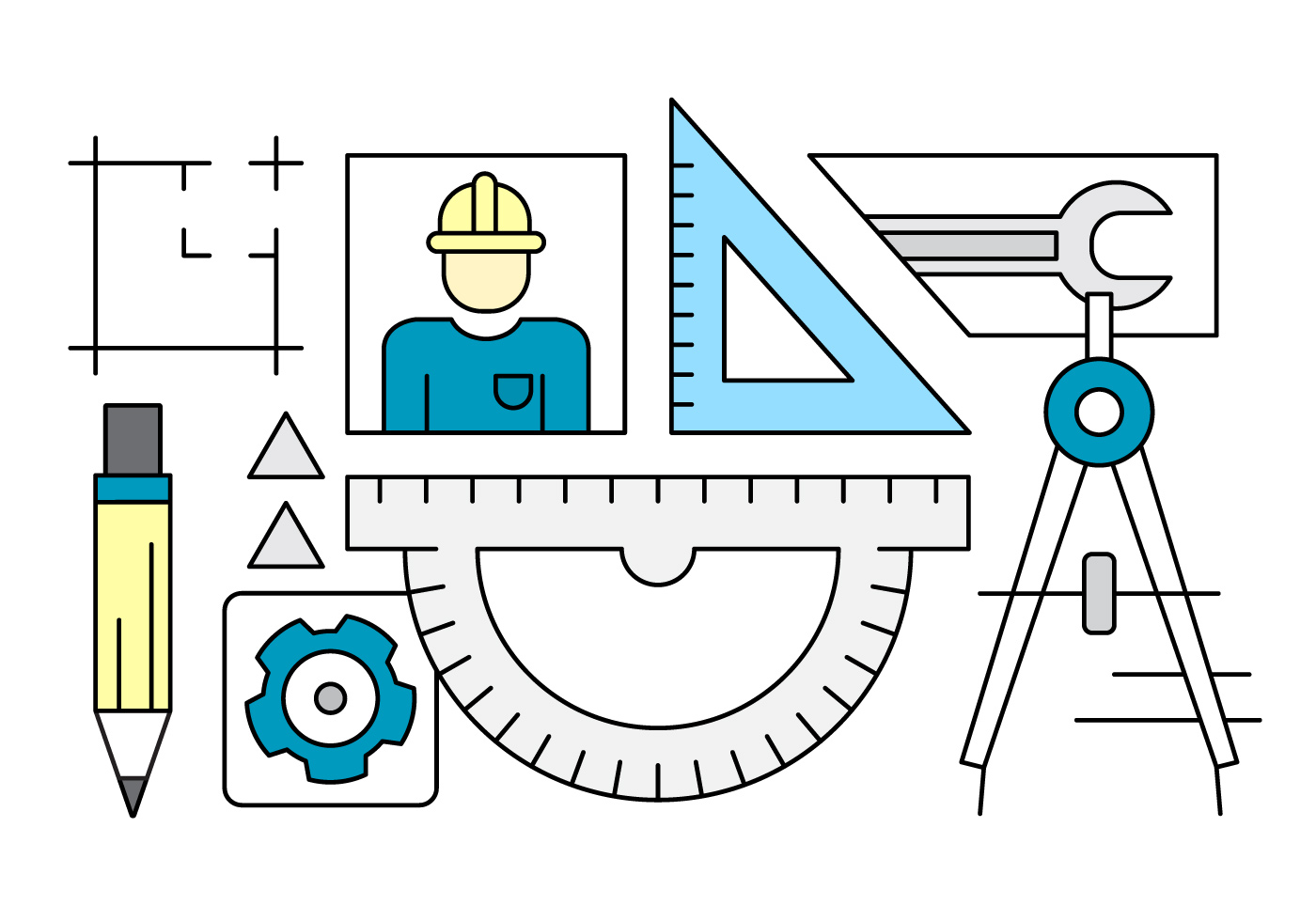 Vector Cartoon For Free Download About 5 514 Vector: Engineering Vector Collection
