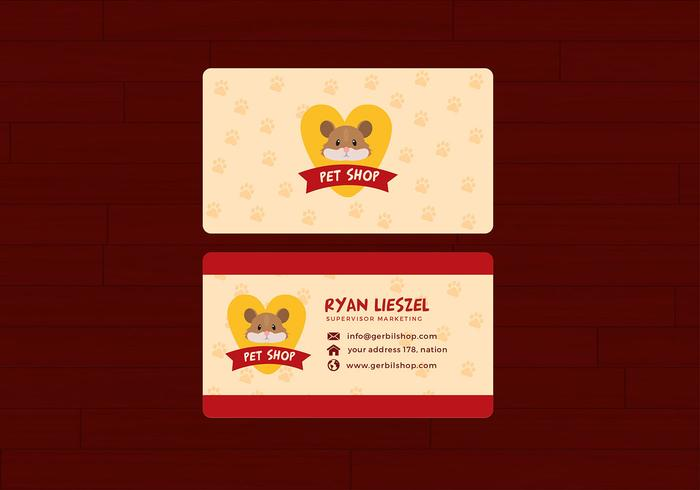 Pet Shop Name Card Free Vector - Download Free Vector Art, Stock
