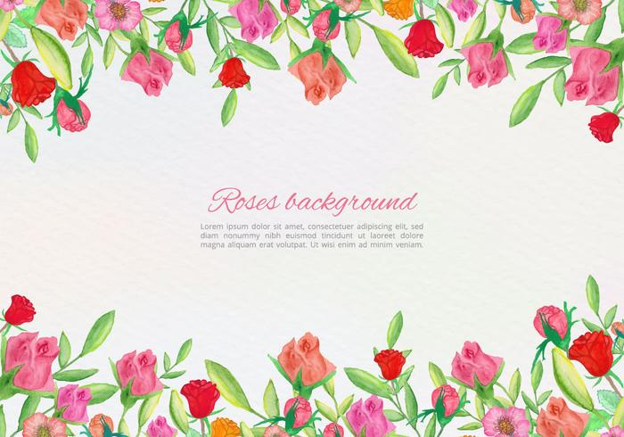 Free Vector Hand Draw Floral Card
