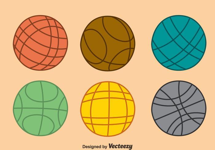 Bocce bal collectie vector