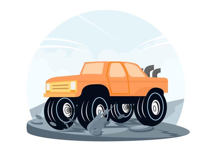 Vector de coche fuera de carretera