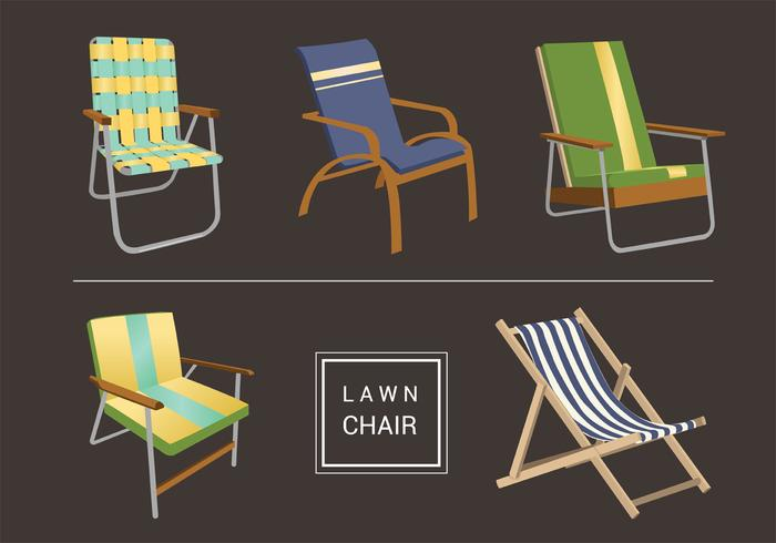 Lawn Chair Vector Pack