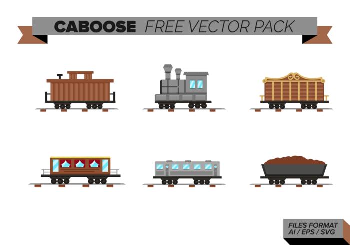 Pack vecteur gratuit Caboose
