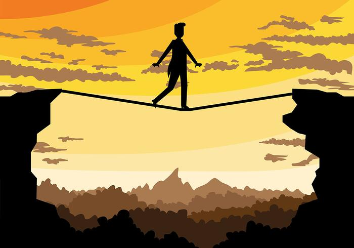 Tightrope Vector Background