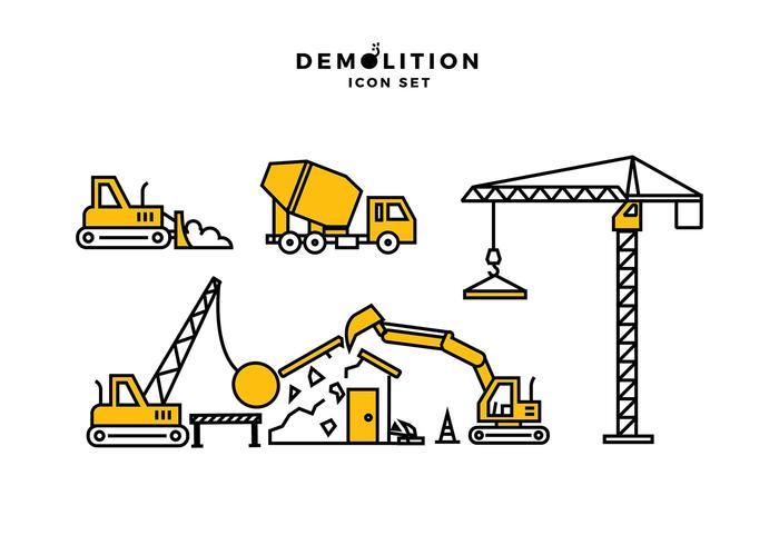 Demolition Icon Free Vector