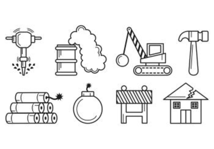 Set Of Demolition Icons