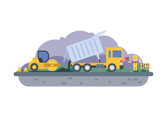 Ilustración libre de la construcción de carreteras