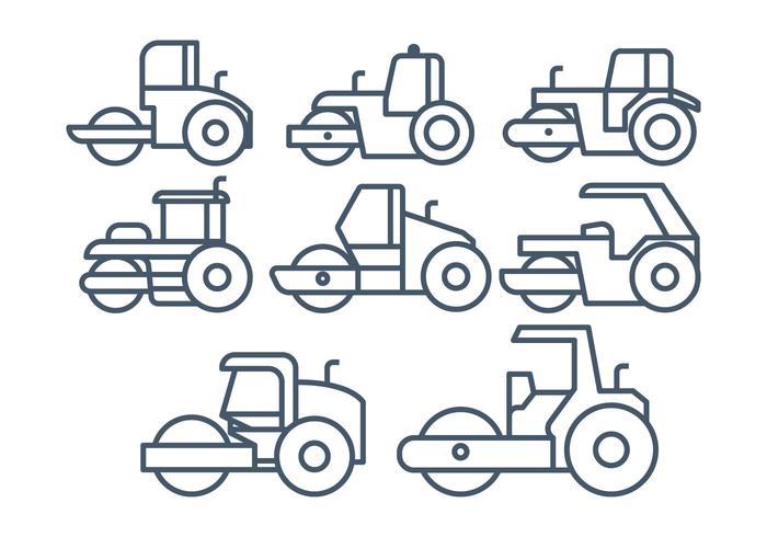 Steamroller vector set
