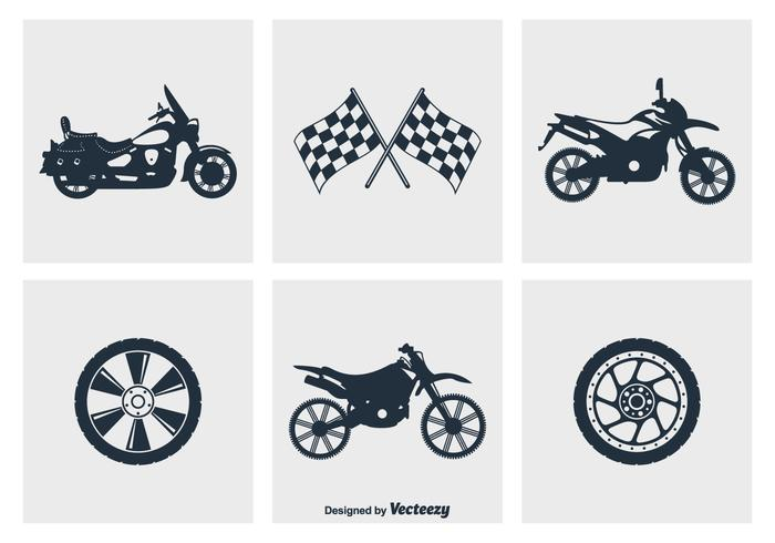 Motorcycle Silhouette Vector Icons