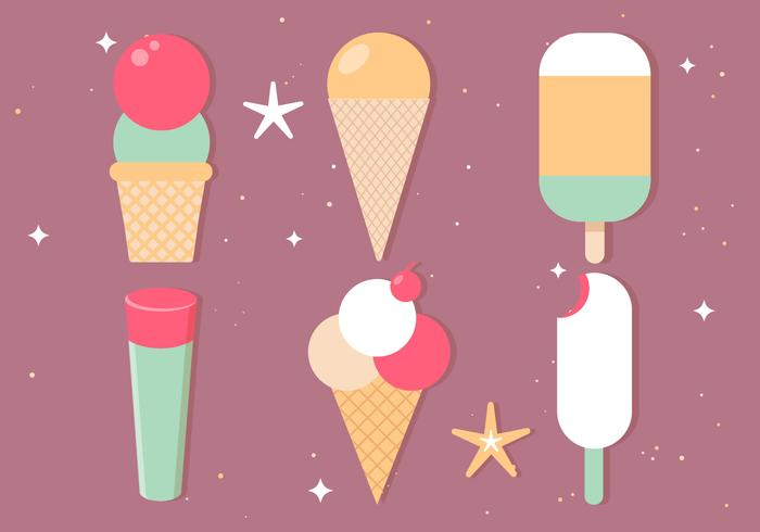 Vector Free Ice Cream Illustrations