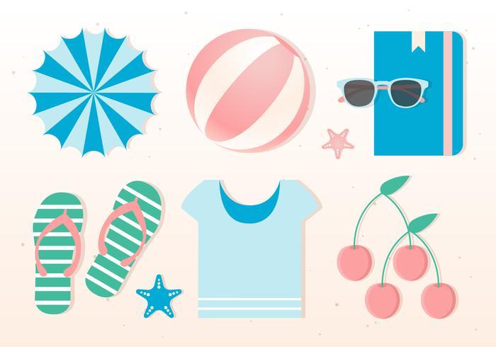 Free Flat design Vector Summer Elements