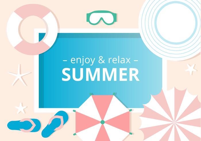 Free Design Vector Summer Background