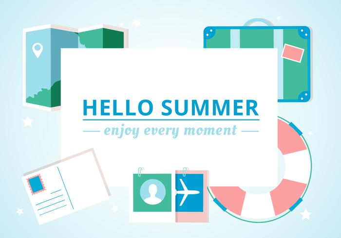 Free Design Vector Summer Background
