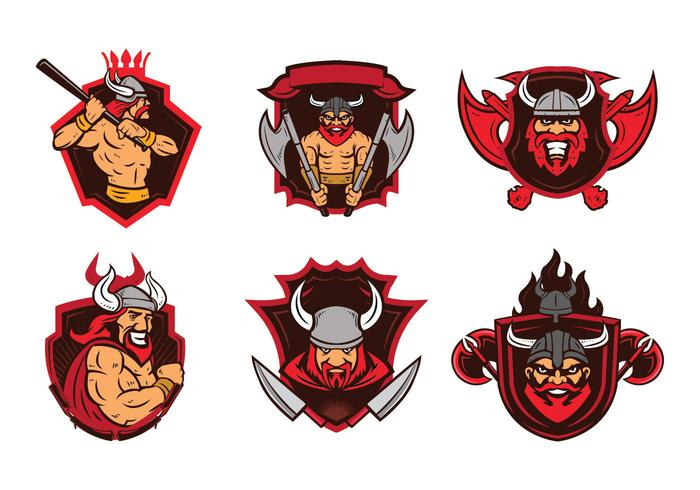 Viking Badge Mascotte Vector