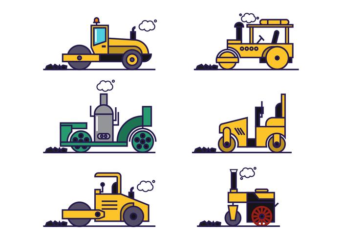 Steamroller Vector