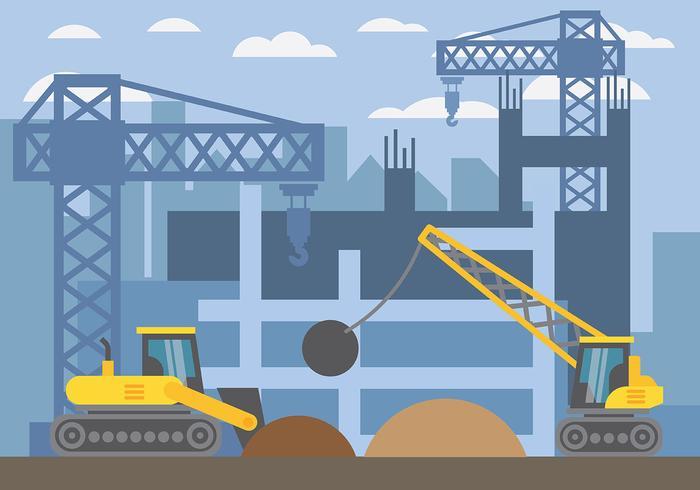 Demolition Vector Background