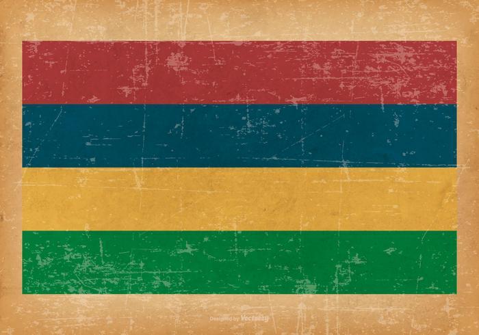 Bandeira do grunge das Maurícias