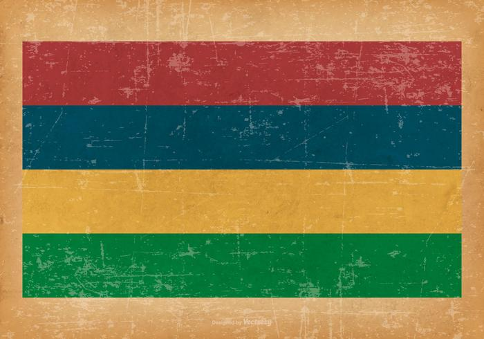 Grunge Flag of Mauritius