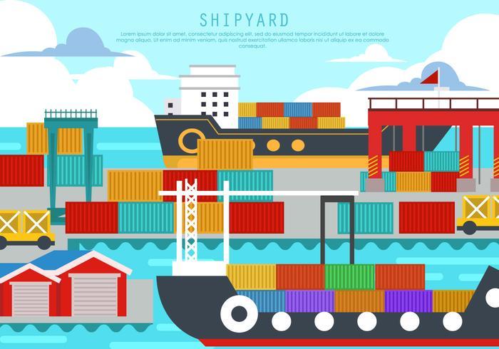 Shipyard In The Harbor