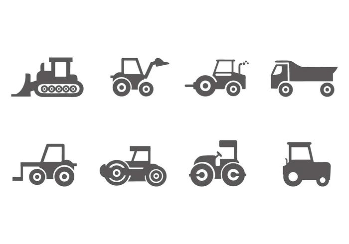 Free Construction Vehicle Icons Vector