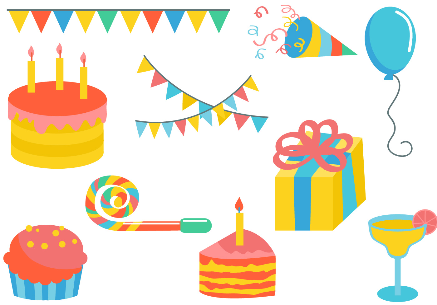 Free Colorful Party Vectors - Download Free Vectors ...