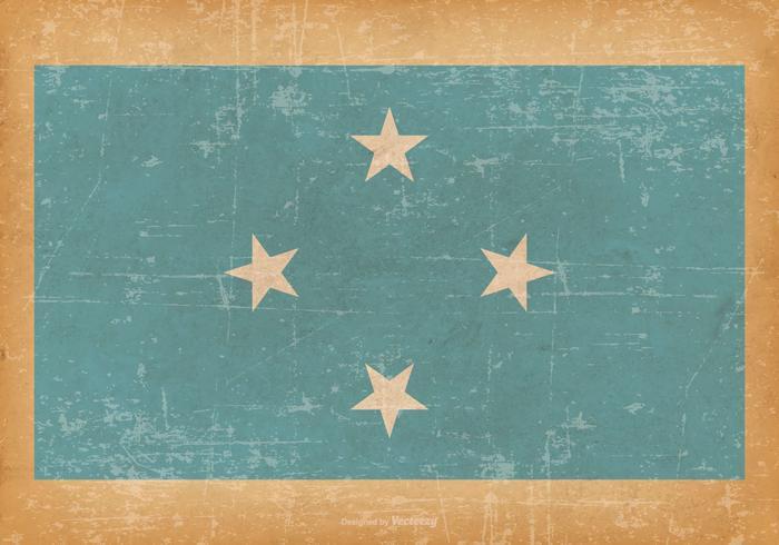 Bandeira grunge da micronésia