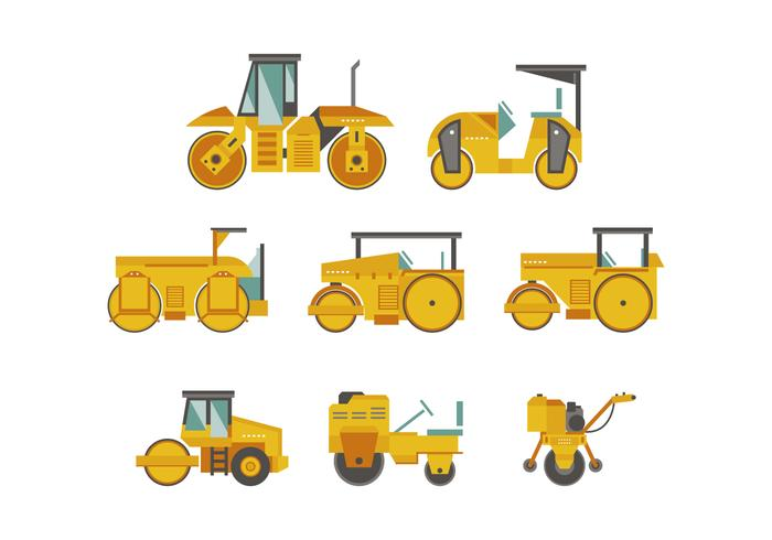 Gratis Road Roller Vector Collection