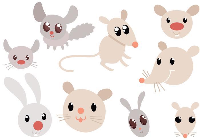 Vectores libres lindos de los roedores