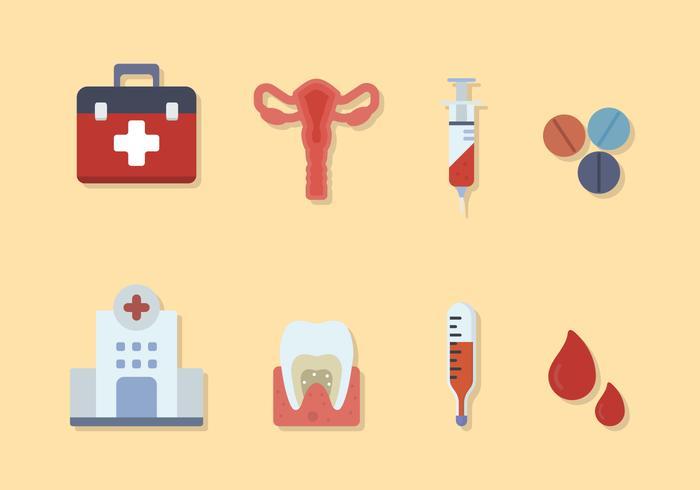 Vectores médicos planos