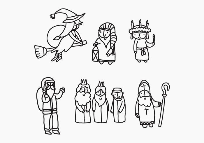 Personajes de Navidad