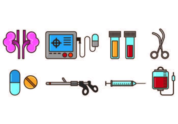 Set Of Urology Icons
