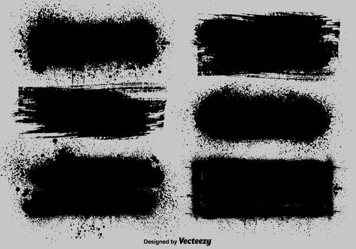 Vector Black Paint Template Set