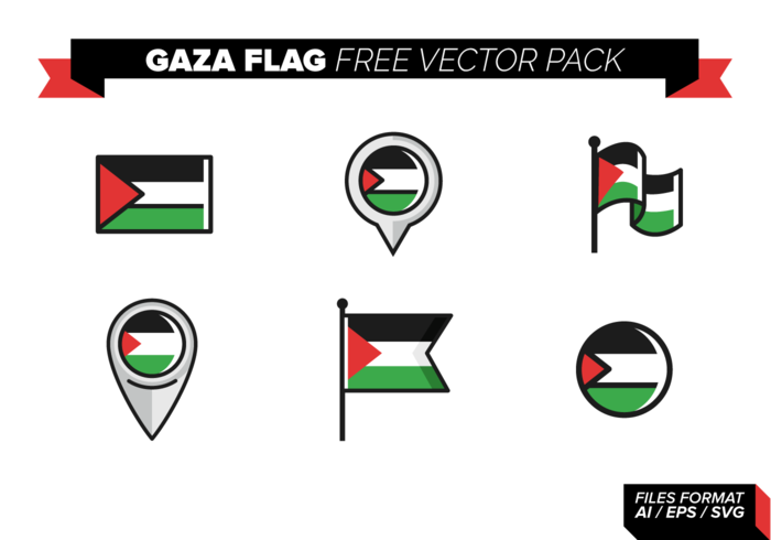 Gaza Flag Free Vector Pack