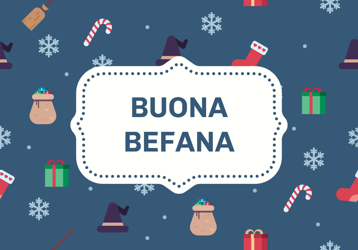 Buona Befana Greeting Card Download Free Vector Art Stock