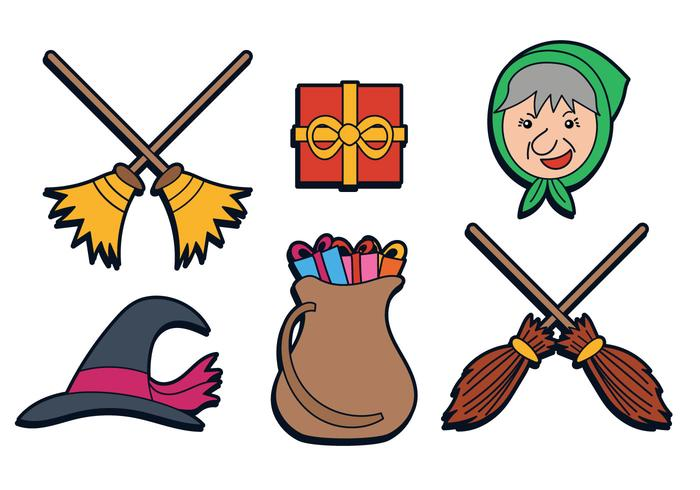 Befana Vector Set