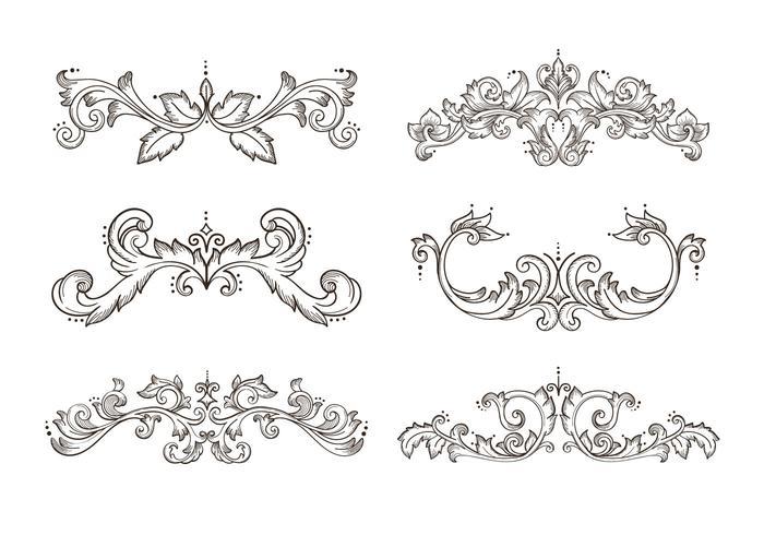 Floral Hand Drawn Border Frame Element
