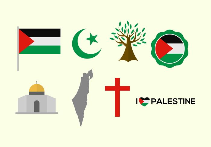 Free Palestine Vector Icons