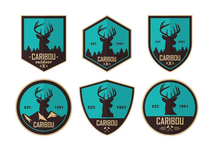 Caribou Blue Logos Free Vector