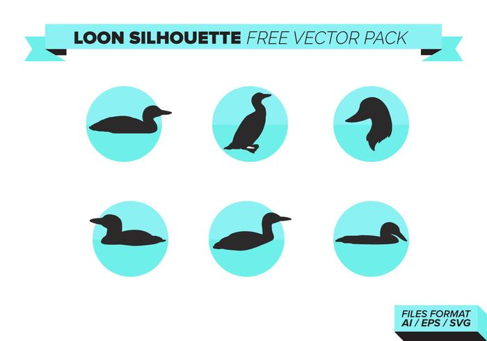 Loon Silhouette Free Vector Pack