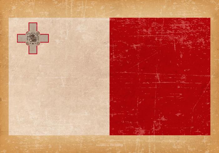 Grunge Flag of Malta