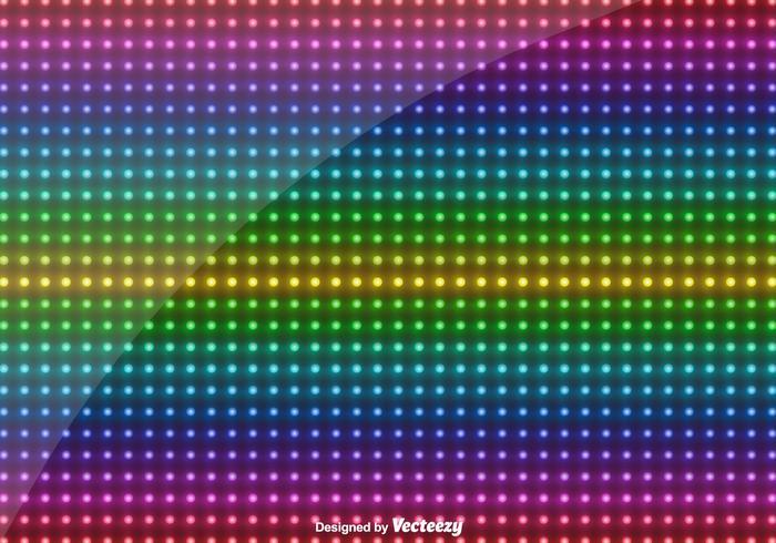 Vektor mångfärgad led ljus bakgrund