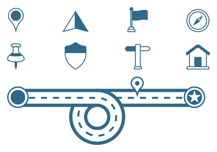 Roadmap Sign Icons