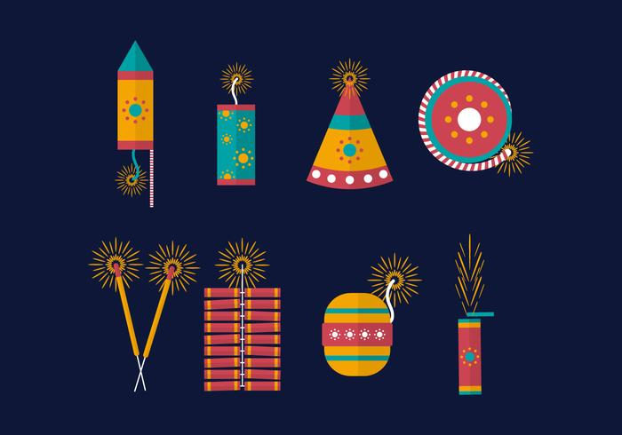 Free Diwali Fire Crackers Vector
